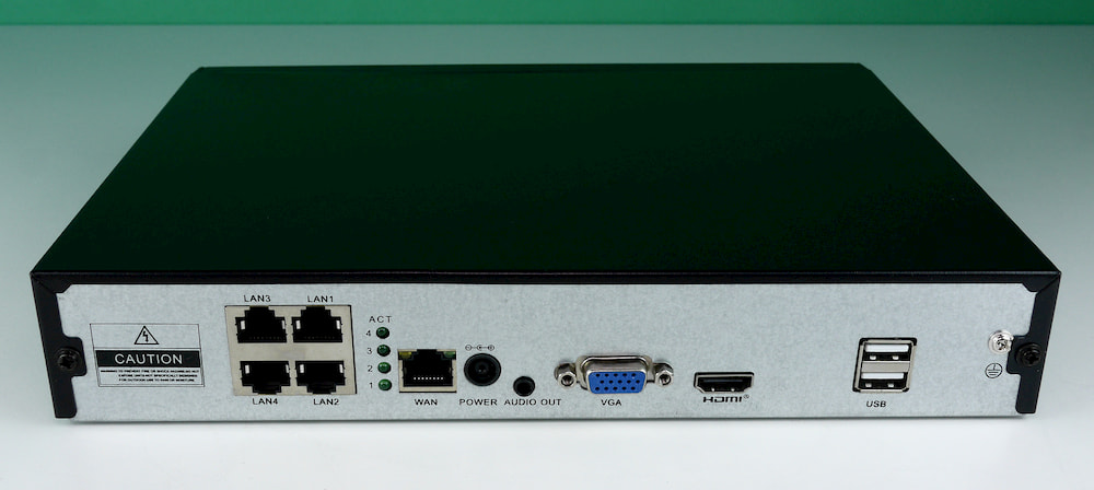 4 PoE-интерфейса видеорегистратора