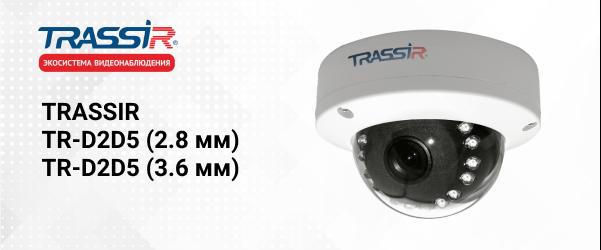 IP-камеры TRASSIR TR-D2D5 (2.8 мм) и TR-D2D5 (3.6 мм)