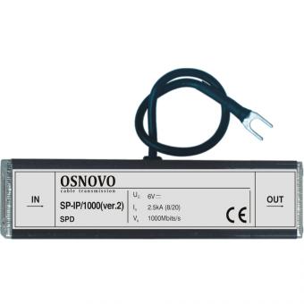 Osnovo SP-IP/1000 (ver2): устройство грозозащиты цепи Ethernet
