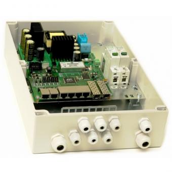 TFortis PSW-2G6F+: управляемый уличный 6-портовый РоЕ-коммутатор с двумя SFP-слотами, поддержкой РоЕ+