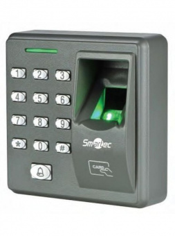 Smartec ST-SC110EKF: терминал доступа со сканером отпечатков пальцев, считывателем EM-Marin, клавиатурой