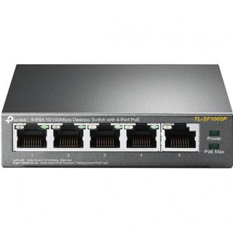 TP-Link TL-SF1005P: неуправляемый PoE-коммутатор с 4 PoE-портами, бюджетом 15.4 Вт на порт при общем бюджете 58 Вт