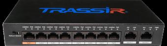 TRASSIR TR-NS1010-96-8POE. Неуправляемый PoE-свитч с 8 PoE-портами (до 250 м)