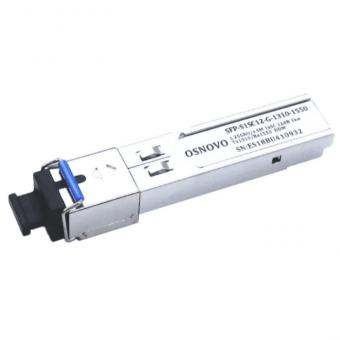 Osnovo SFP-S1SC12-G-1310-1550: SFP-модуль для подключения к коммутатору оптоволоконного кабеля с передачей данных на расстояние до 3 км