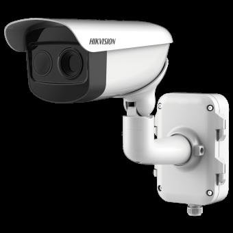 Hikvision DS-2TD2866-25: уличная тепловизионная цилиндрическая камера 640×512 с 2 Мп видеомодулем, ИК-подсветкой 100 м, аналитикой, записью, звуком, PoE
